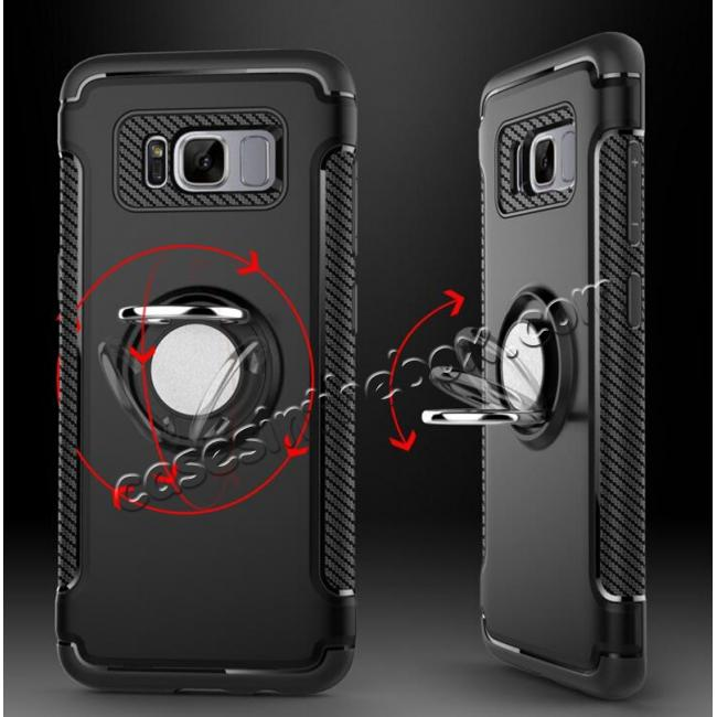 luxury samsung galaxy s8 cases,cheap Hybrid Shockproof Rugged Protective Case Cover with Ring stand For Samsung Galaxy S8 - Rose gold