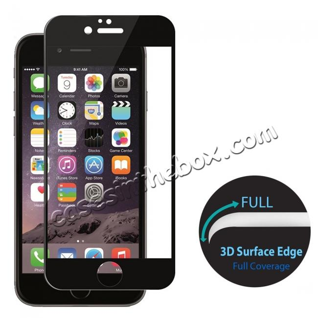 wholesale 3D Curved Full Coverage Tempered Glass Screen Protector for iPhone 8 4.7inch - Black