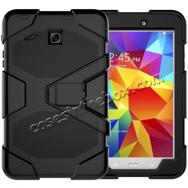 finest selection 00499 f52de Hybrid Kickstand Shockproof Impact Resistant Rugged Armor Case For Samsung  Galaxy Tab E 8.0 - Black