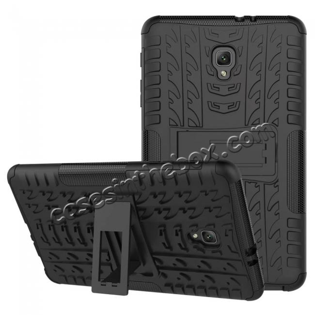 discount Hybrid Rugged Hard Case Cover with Kickstand for Samsung Galaxy Tab A 8.0 2017 T380/T385 - Black