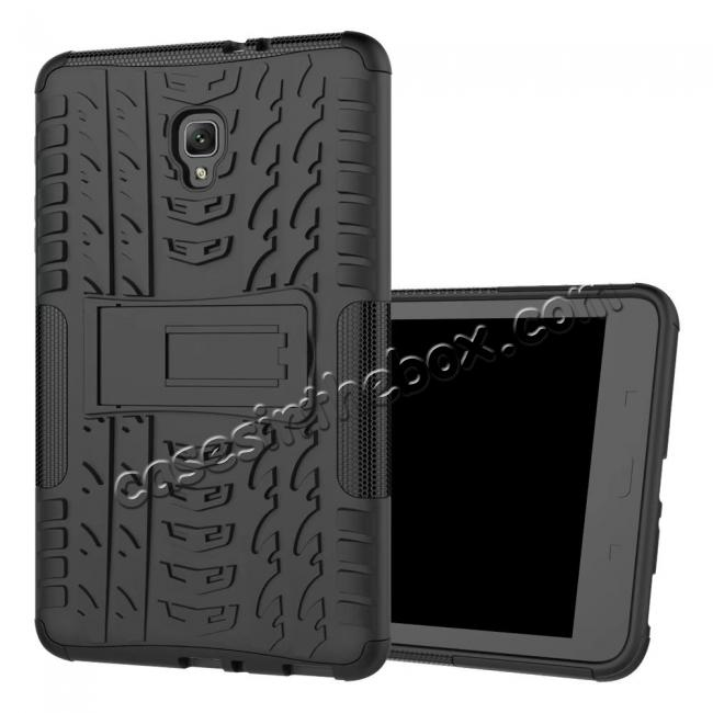 cheap Hybrid Rugged Hard Case Cover with Kickstand for Samsung Galaxy Tab A 8.0 2017 T380/T385 - Black
