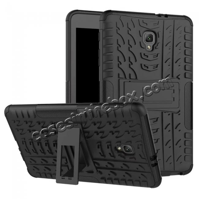 wholesale Hybrid Rugged Hard Case Cover with Kickstand for Samsung Galaxy Tab A 8.0 2017 T380/T385 - Black