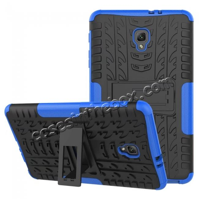 discount Hybrid Rugged Hard Case Cover with Kickstand for Samsung Galaxy Tab A 8.0 2017 T380/T385 - Blue
