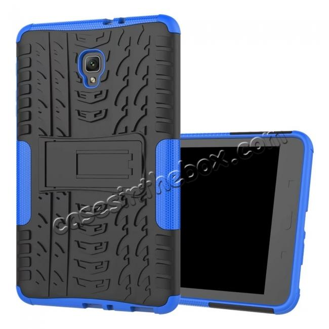 cheap Hybrid Rugged Hard Case Cover with Kickstand for Samsung Galaxy Tab A 8.0 2017 T380/T385 - Blue