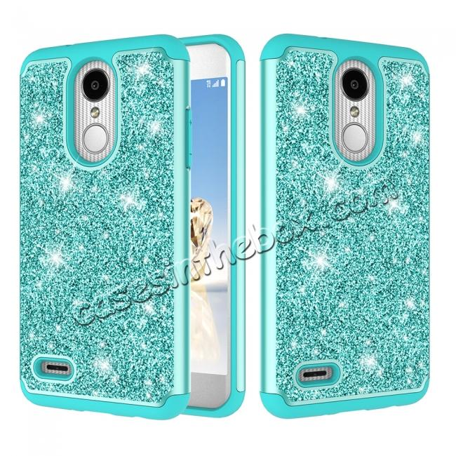 premium selection b992a acd61 Luxury Bling Glitter Hard Plastic Back Case Cover For LG Tribute Dynasty /  LG Aristo 2 - Teal