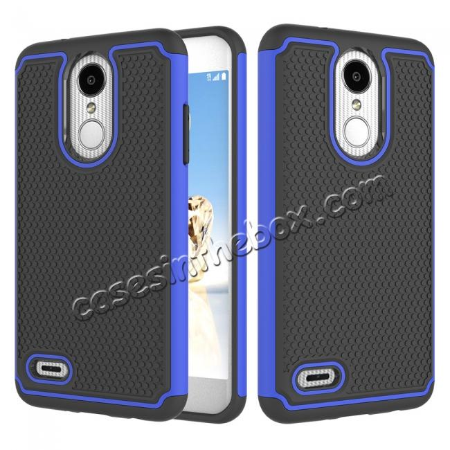 wholesale Full Body Hybrid Dual Layer ShockProof Protective Case For LG Tribute Dynasty / Aristo 2 - Dark blue