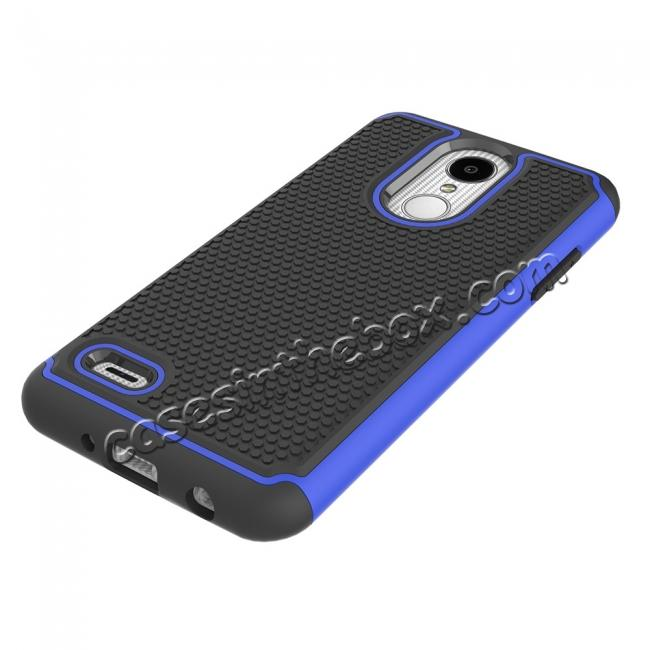 best price Full Body Hybrid Dual Layer ShockProof Protective Case For LG Tribute Dynasty / Aristo 2 - Dark blue