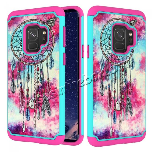 Patterned Hard TPU Hybrid Shockproof Phone Case Cover For Samsung Galaxy S9 - Dream Catcher 47316