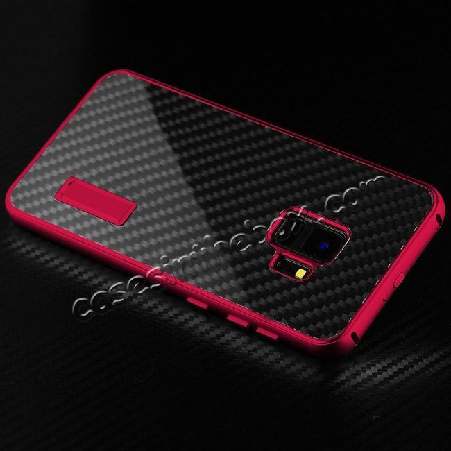 the latest 2572d d5950 Aluminium Metal Frame + Carbon Back Cover Case For Samsung Galaxy S9 Plus