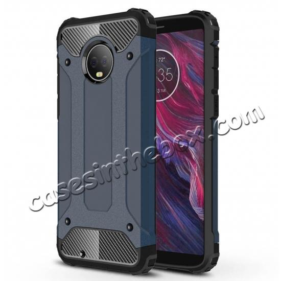 cheap For Motorola Moto G6 Rugged Armor Hybrid Shockproof Back Case Cover - Rose gold
