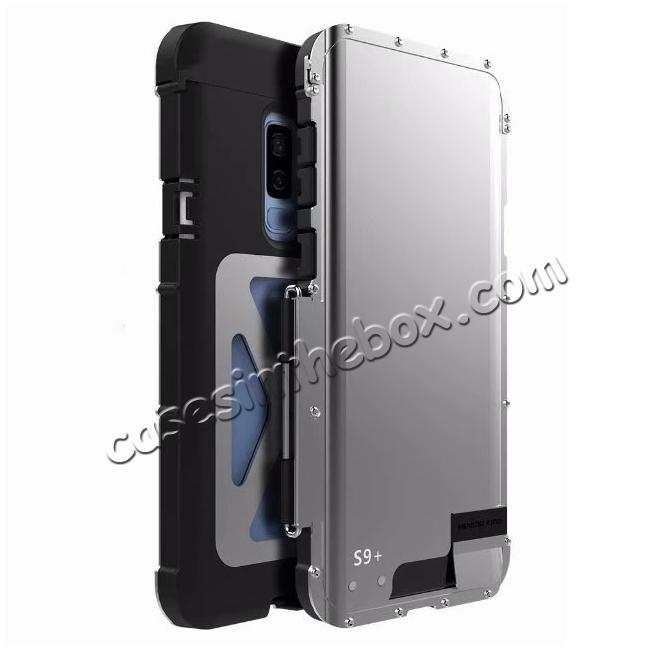 more photos da484 a57d4 R-JUST Aluminum Metal Shockproof Full Cover Case For Samsung Galaxy S9 Plus  - Silver