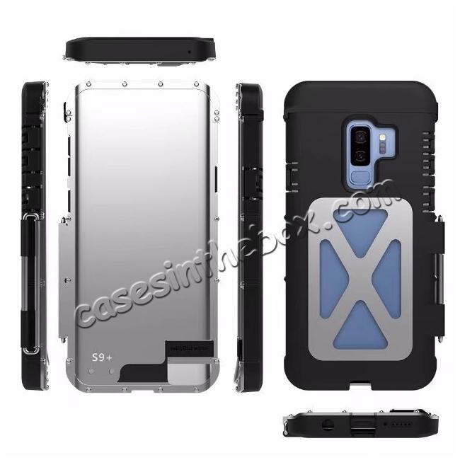 best price R-JUST Aluminum Metal Shockproof Full Cover Case For Samsung Galaxy S9 / Note 9 / S8 / iPhone