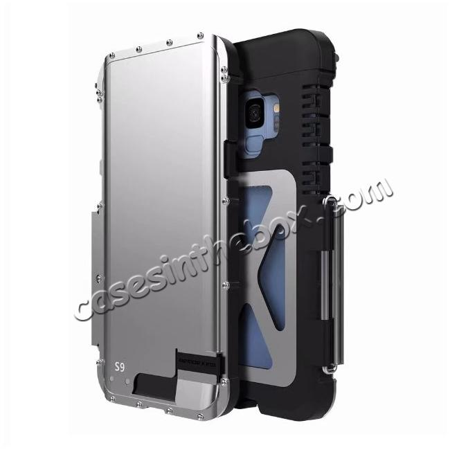 discount R-JUST Aluminum Metal Shockproof Full Cover Case For Samsung Galaxy S9 / Note 9 / S8 / iPhone