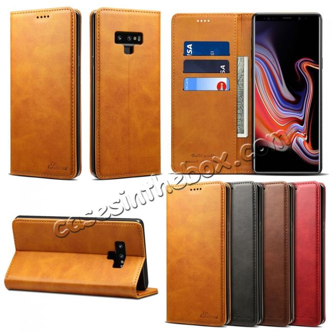 detailed look 69d87 3dca1 For Samsung Galaxy Note 9 Flip Wallet Leather Stand Protective Case Cover
