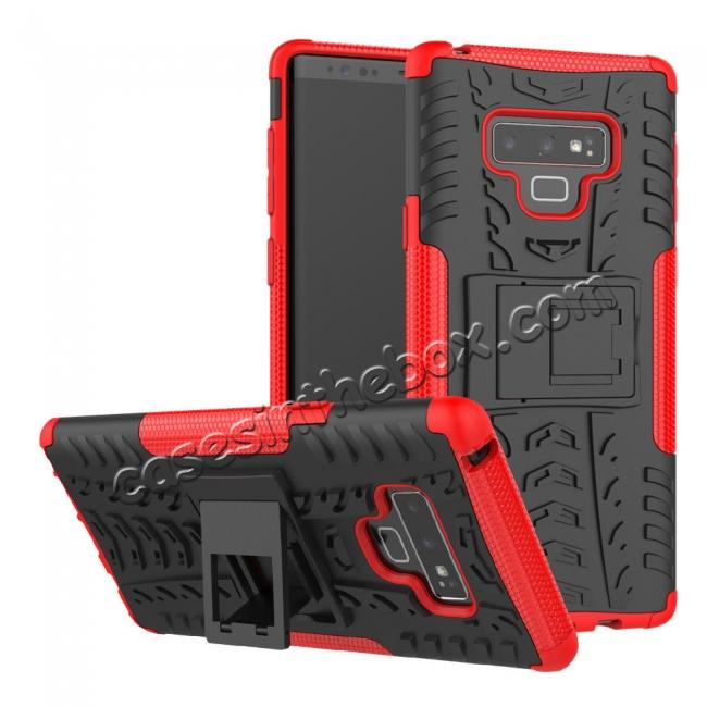top quality For Samsung Galaxy Note 9 Shockproof Hybrid TPU Armor Kickstand Case + Tempered Glass Screen