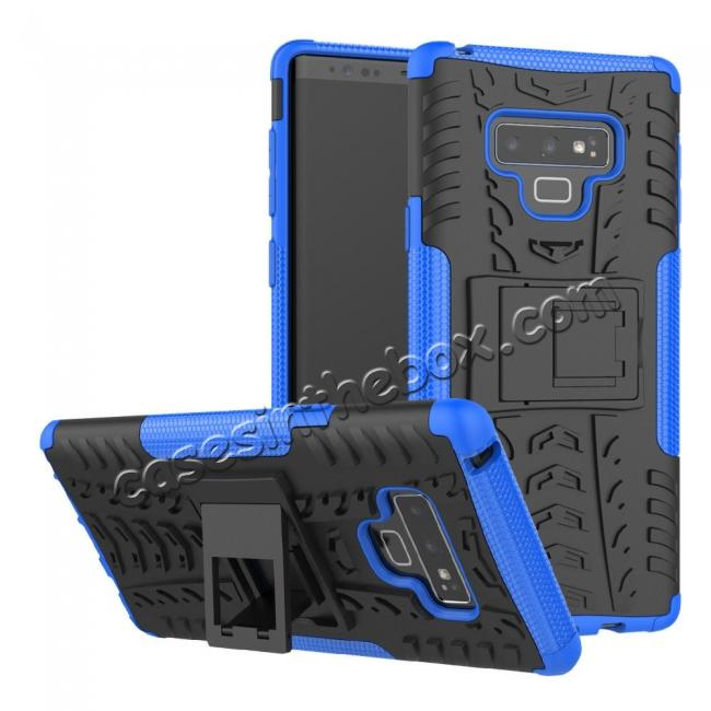 best price For Samsung Galaxy Note 9 Shockproof Hybrid TPU Armor Kickstand Case + Tempered Glass Screen