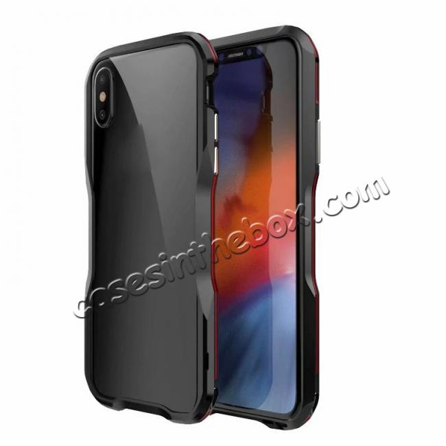 discount Premium Dual Color Aluminum Metal Frame Case for iPhone XS / X XS XS Max XR