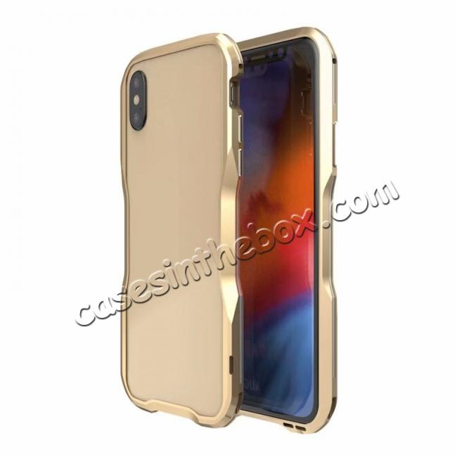 cheap Premium Dual Color Aluminum Metal Frame Case for iPhone XS / X XS XS Max XR