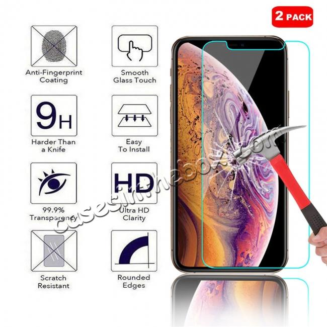 wholesale 2-Pack For Apple iPhone XS Max 9H Hardness Tempered Glass Screen Protector Film