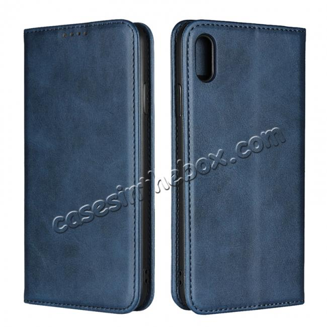 on sale Genuine Leather Card Holder Wallet Case for iPhone XS Max / XR / XS / X / 11 Pro Max SE