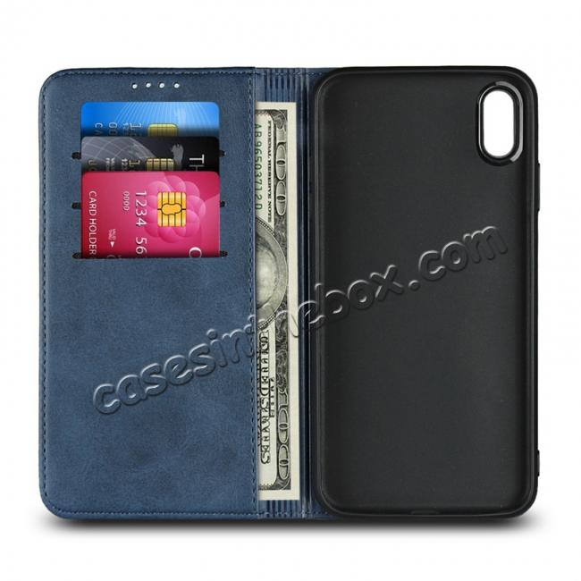 low price Genuine Leather Card Holder Wallet Case for iPhone XS Max / XR / XS / X / 11 Pro Max SE