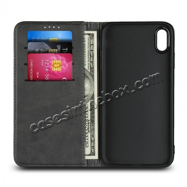 china wholesale Genuine Leather Card Holder Wallet Case for iPhone XS Max / XR / XS / X / 11 Pro Max SE