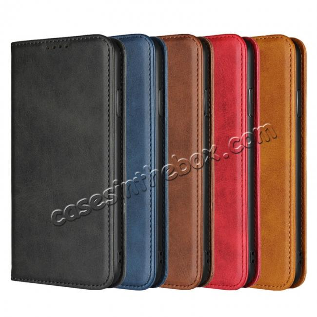 wholesale Genuine Leather Card Holder Wallet Case for iPhone XS Max / XR / XS / X / 11 Pro Max SE