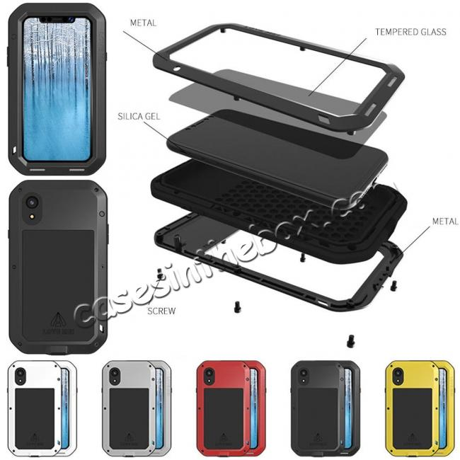 iphone xr case hard silicone diamante tempered glass