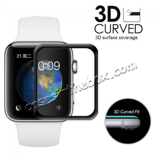 wholesale For Apple Watch 40mm 44mm Tempered Glass Film Full Coverage 3D Screen Protector