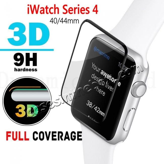 top quality For Apple Watch 40mm 44mm Tempered Glass Film Full Coverage 3D Screen Protector