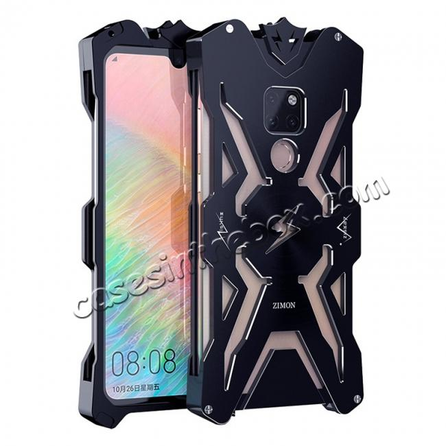 wholesale Aluminum Metal Shockproof Case Cover for Huawei Mate 20 - Black