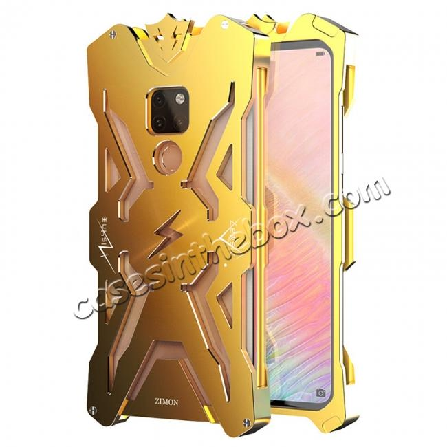 wholesale Aluminum Metal Shockproof Case Cover for Huawei Mate 20 - Gold