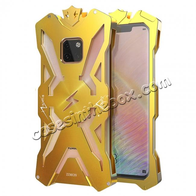 wholesale Shockproof Aluminum Metal Case for Huawei Mate 20 Pro - Gold