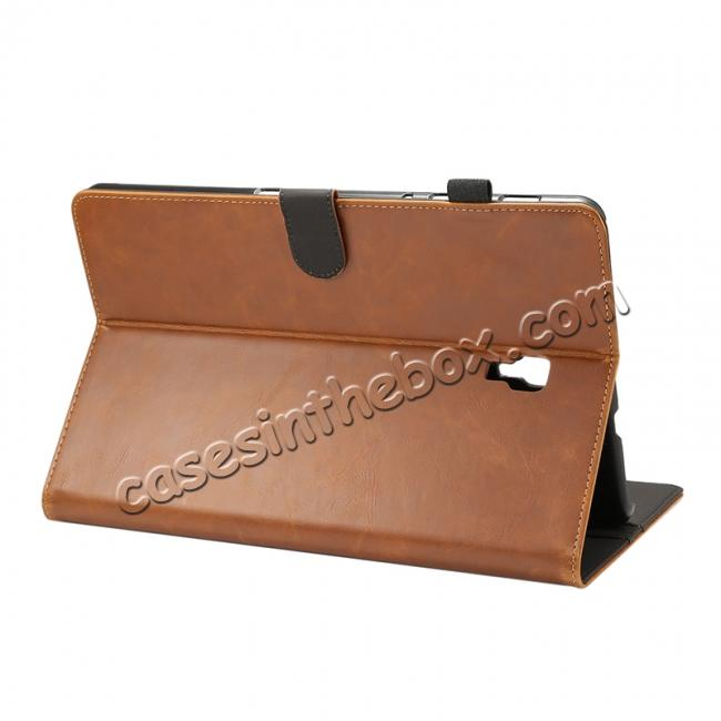 Crazy Horse Texture Stand Leather Case for Samsung Galaxy Tab S4 10 5  T830/T835 - Brown