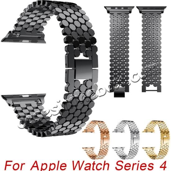 wholesale For Apple Watch Series 4 44mm/40mm Replacement Stainless Steel Loop Strap Band
