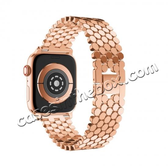 discount For Apple Watch Series 4 44mm/40mm Replacement Stainless Steel Loop Strap Band