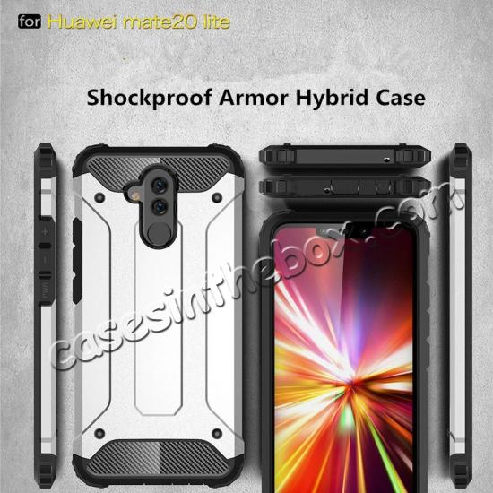 discount For Huawei Mate 20 Lite Pro Shockproof Armor Hybrid Hard Back Case Phone Cover