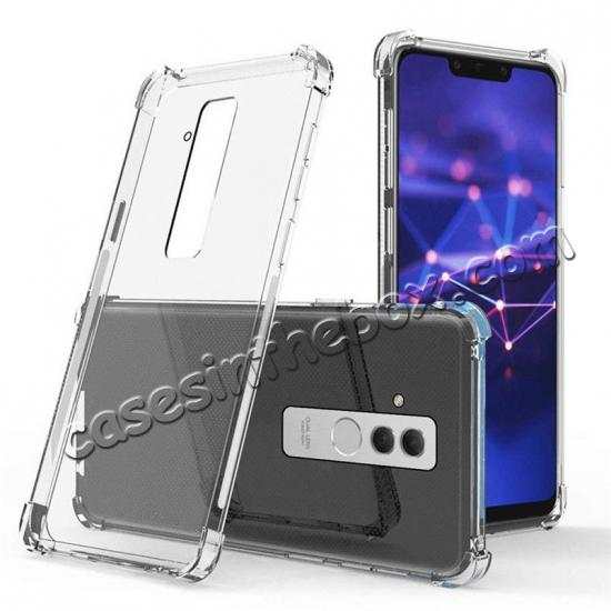 wholesale For Huawei Mate 20 Lite Shockproof Slim Silicone Clear TPU Case Cover