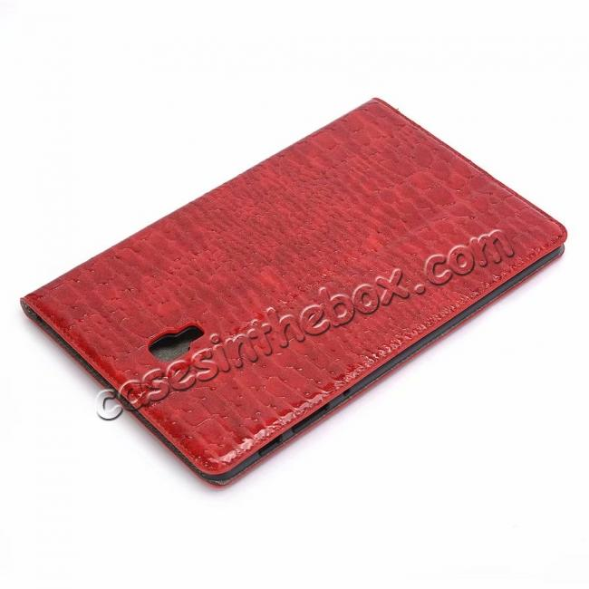 discount For Samsung Galaxy Tab A 10.5 T590/T595 2018 Crocodile Pattern Stand Leather Case - Red