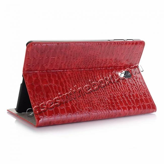 wholesale For Samsung Galaxy Tab A 10.5 T590/T595 2018 Crocodile Pattern Stand Leather Case - Red