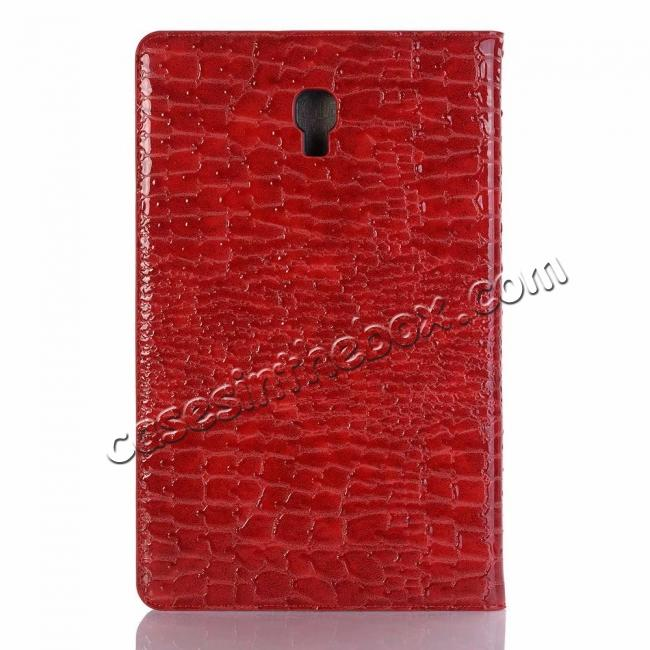 top quality For Samsung Galaxy Tab A 10.5 T590/T595 2018 Crocodile Pattern Stand Leather Case - Red