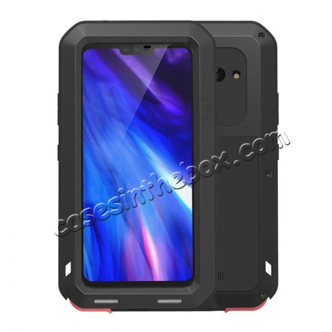 wholesale LOVE MEI Powerful Shockproof Aluminum Case For LG V40 ThinQ - Black