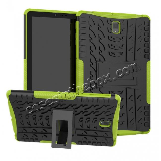 wholesale Rugged Shockproof Kickstand Armor Case for Samsung Galaxy Tab S4 10.5 T830/T835 - Green