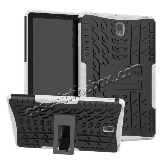 wholesale Rugged Shockproof Kickstand Armor Case for Samsung Galaxy Tab S4 10.5 T830/T835 - White