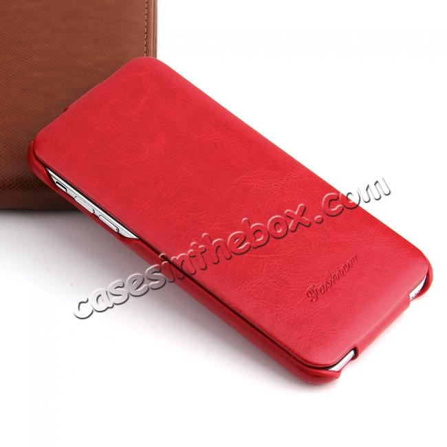 best price Crazy Horse Pattern Leather Case for iPhone XR - Red