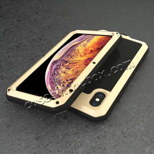 top quality Shockproof Aluminum Alloy Temepred Glass Case for iPhone 7/7 Plus/8/8 Plus/X/XS/XR/XS Max
