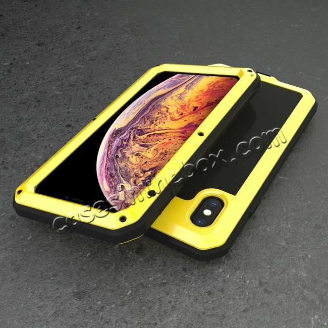 best price Shockproof Aluminum Alloy Temepred Glass Case for iPhone 7/7 Plus/8/8 Plus/X/XS/XR/XS Max