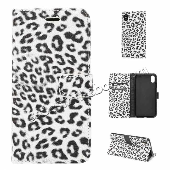 top quality Leopard Pattern Wallet Flip Stand Leather Case  For iPhone XR