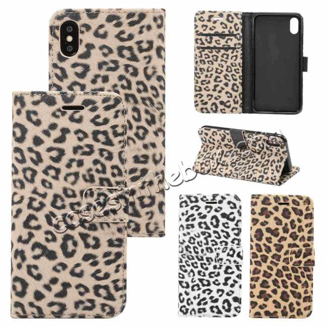 wholesale Leopard Pattern Wallet Flip Stand Leather Case  For iPhone XR
