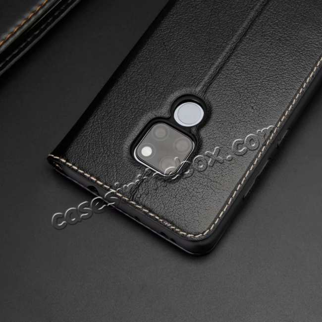 cheap Magnetic Smart Window View Genuine Leather Case for Huawei Mate 20